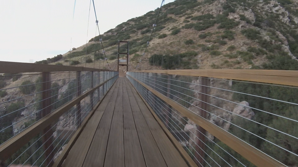 Suspension Bridge, First Person View